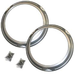 Billet Aluminum Headlight Trim Bezels, pair