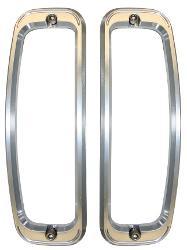 Billet Aluminum Tail Light Bezels, pair
