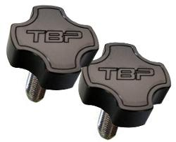 TBP Billet Aluminum Dash Knobs, Black, Pair