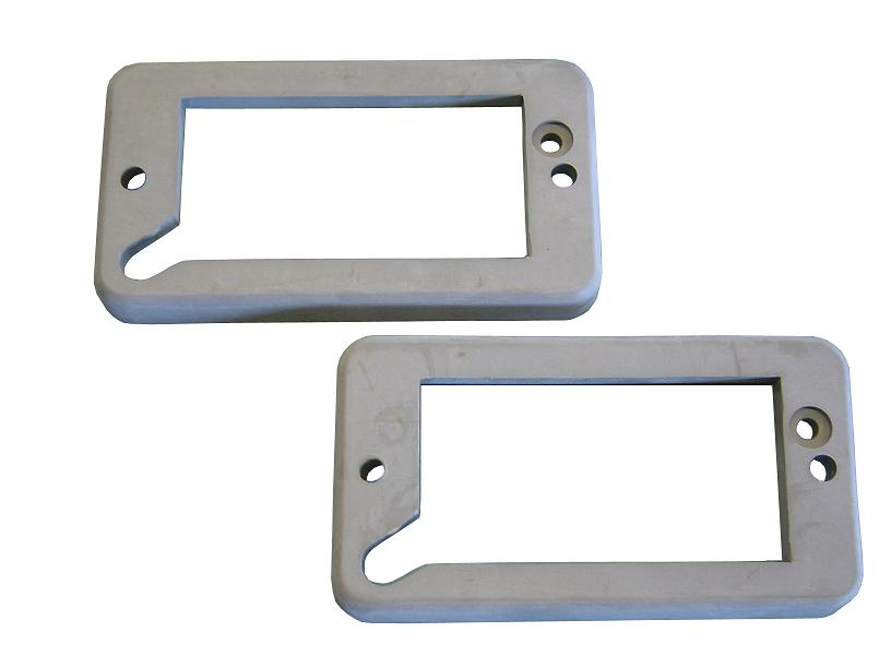 Turn Signal Bucket to Grill Pads - Gray, 69-77 Ford Bronco (per pair)
