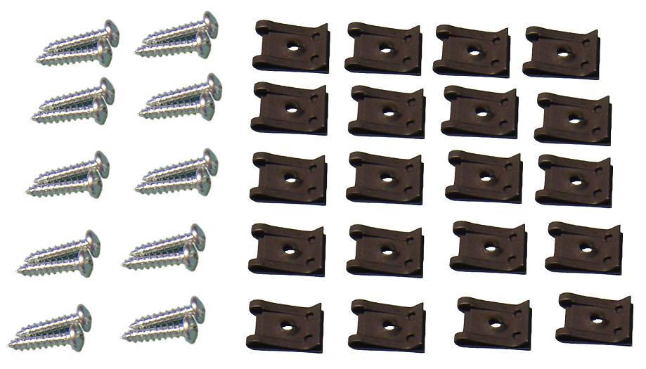Door Panel Clip & Screw Kit (does both doors)