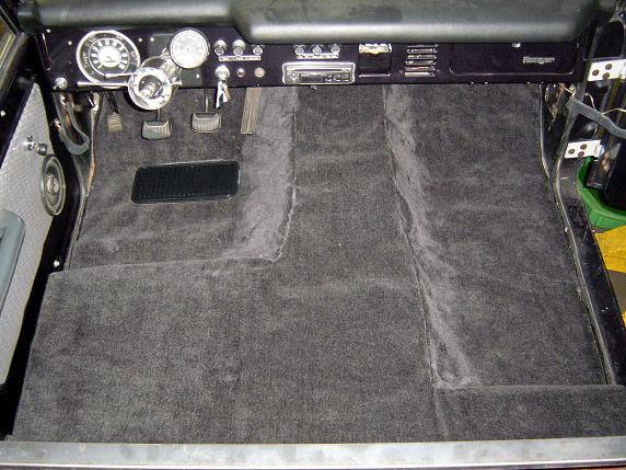 PREMIUM Black Half Cab Carpet Kit