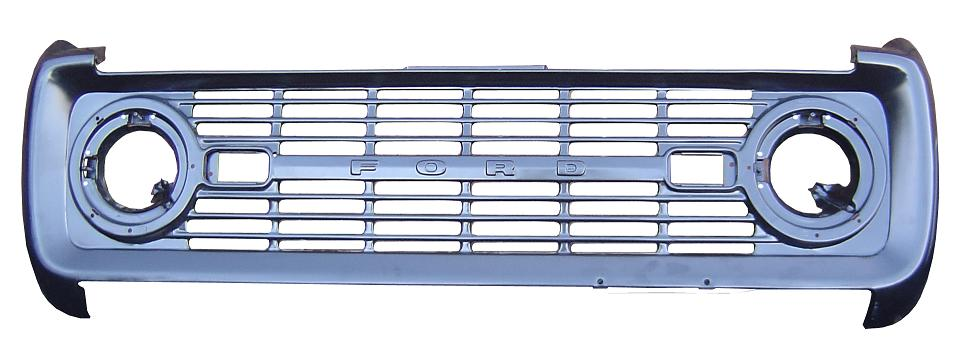 Grill - OE Stamped Steel, 69-77 Ford Bronco *FREE GROUND ...