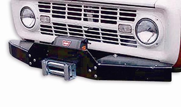 Heavy Duty Front Bumper w/Winch Mount, 66-77 Ford Bronco