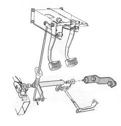 Clutch Bell Crank Support - V8, Engine Side