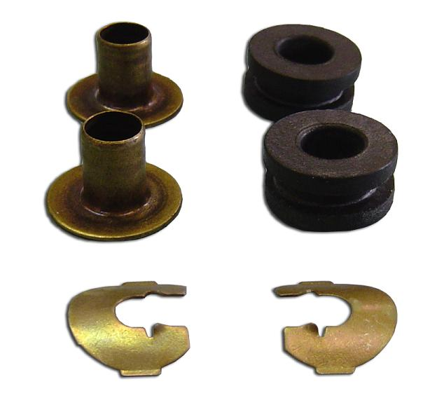 Manual Column Shift Lever Bushings w/Clips, 66-72 Ford Bronco (per kit)