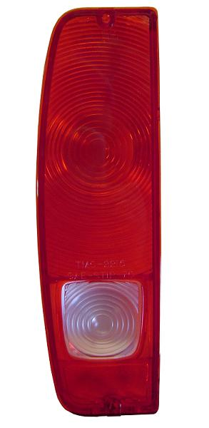 Driver Tail Light Lens w/Reverse Light Lens