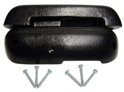 Arm Rests w/Screws - Black, 68-77 Ford Bronco (per pair)