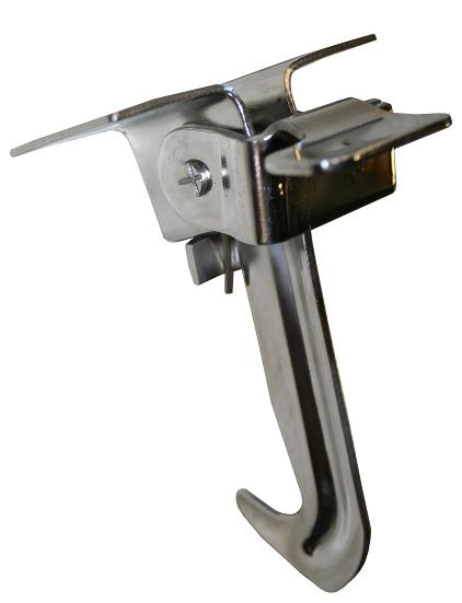 Hood Safety Latch - Polished Stainless Steel
