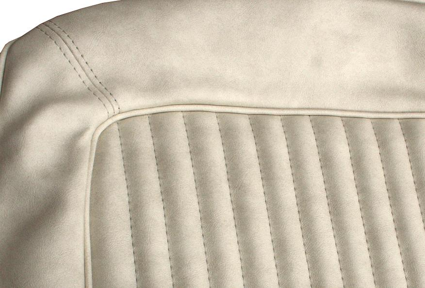Rear Bench Seat Upholstery - Parchment Vinyl