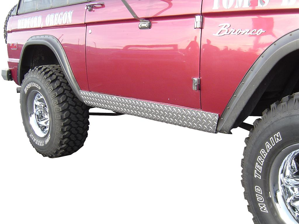 Rocker Panel Covers - Diamond Plate, pair