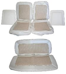 Seat Upholstery - Parchment w/Texture, Full Set, 68-77 Ford Bronco