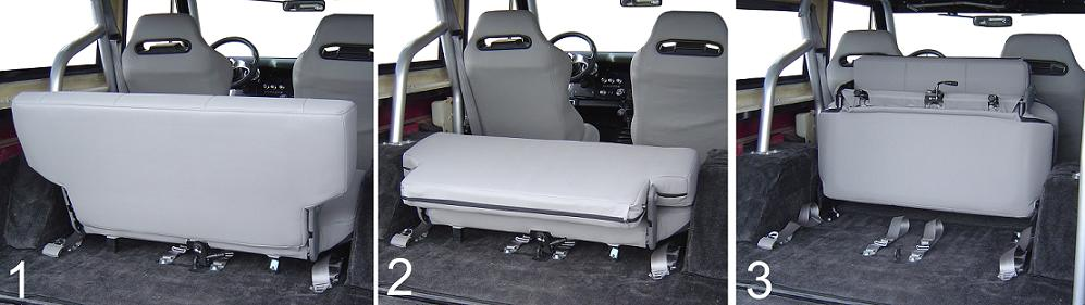 Rear Bench Seat W Headrests Fold Amp Tumble Black 40