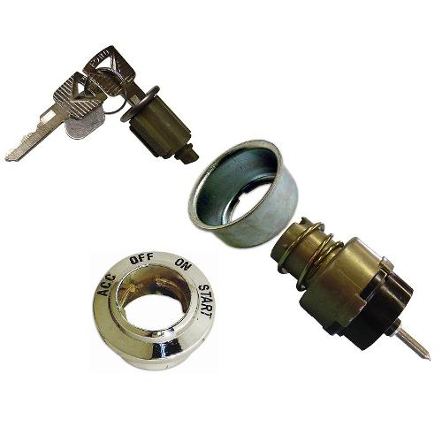 Ignition Switch Kit for 66-77 Ford Bronco (Includes Switch, Spacer Cup, Bezel & Cylinder w/Keys)