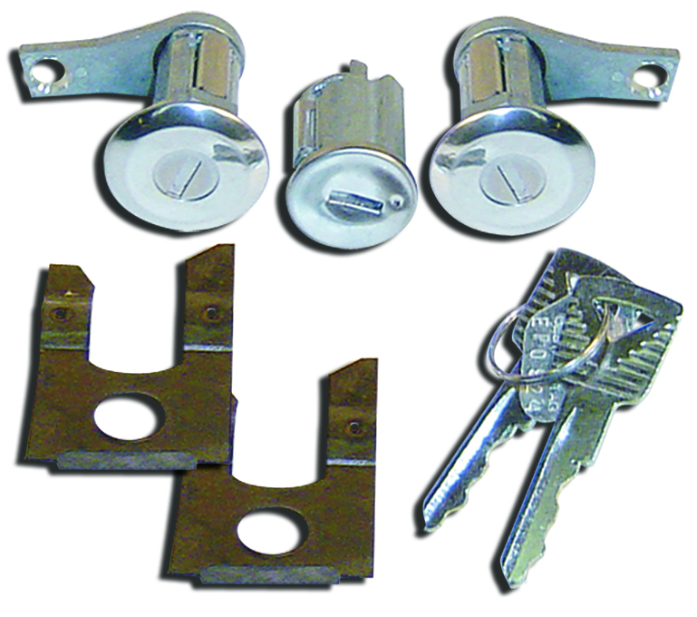 Door Lock Set w/Matching Ignition Cylinder & Keys, 1961-1966 Ford Trucks