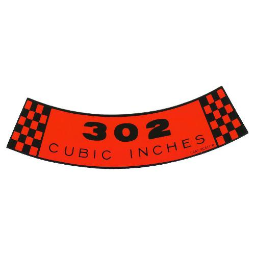 302 Air Cleaner Sticker Emblem, New