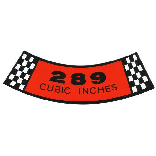 Emblem - 289 Air Cleaner Sticker