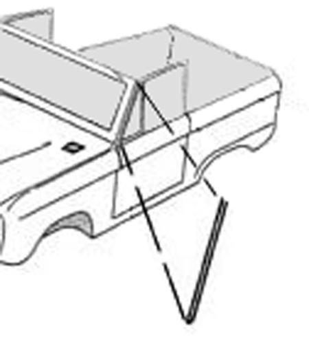 Upper Door to Windshield Frame Seals, Pair