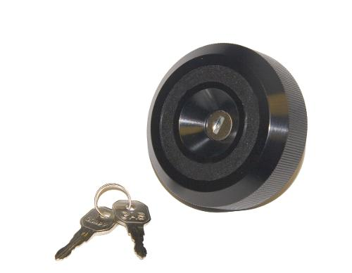 Fuel Cap, Locking Long Reach, Black, 71.5-76 Ford Bronco