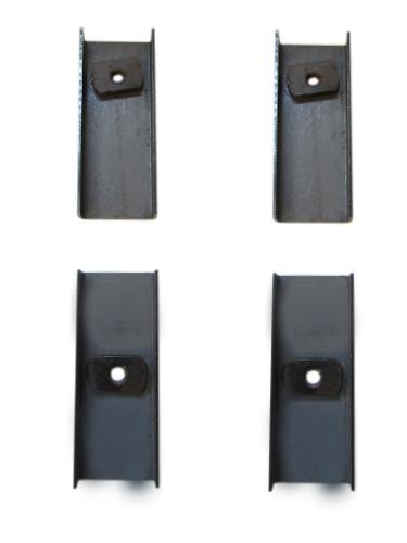 Floor Pan Seat Reinforcement Brackets, Set of 4