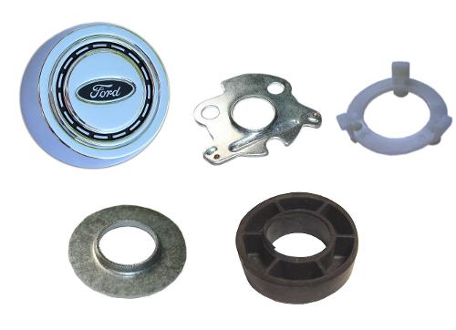 Horn Button Kit, Chrome Button, 66-73 Ford Bronco