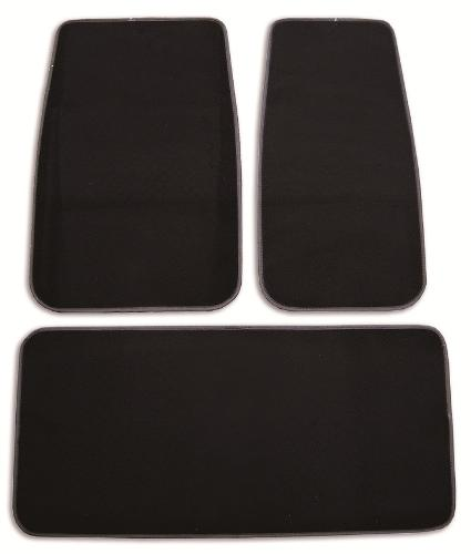Floor Mats - Plain Black (set of 3)