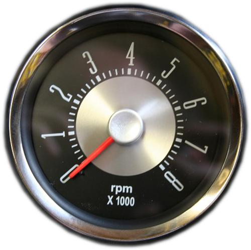 "OE Style Tachometer - Single Digit, 6 Cyl or V-8, 3 3/8"" Dia"
