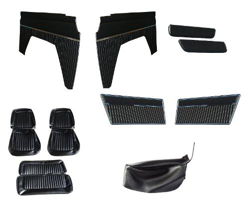 Vinyl Interior Trim Kit, Black 1977 Ford Bronco Only