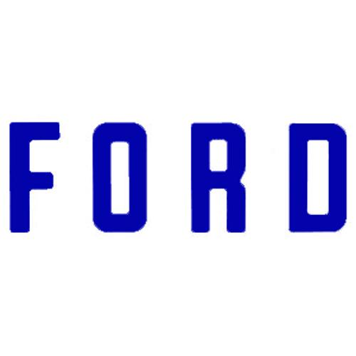 """F O R D"" Tailgate Letters, Blue, Vinyl"
