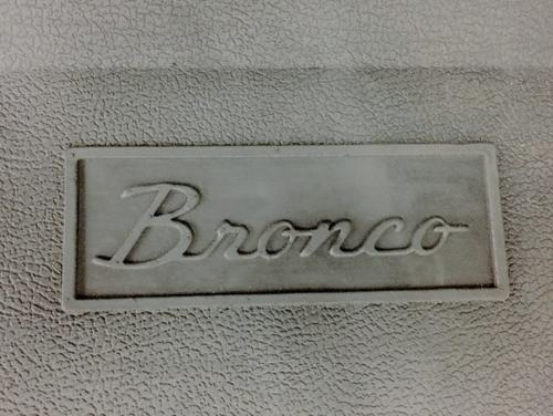 Black Rubber Front Floor Mat W Bronco Script Oe Style