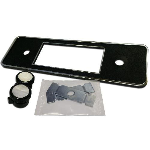 DIN Repair Kit for Retrosound Stereo (#0996B) - Black w/Chrome Trim