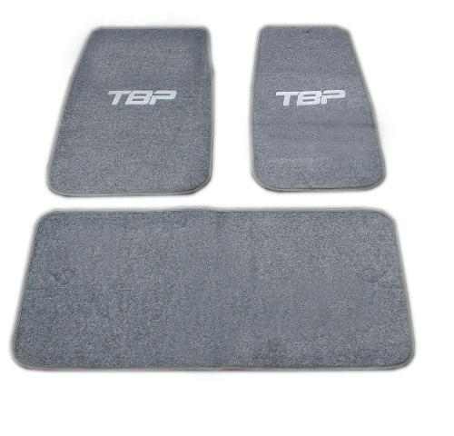 Floor Mats w/TBP Script - Gray (set of 3)