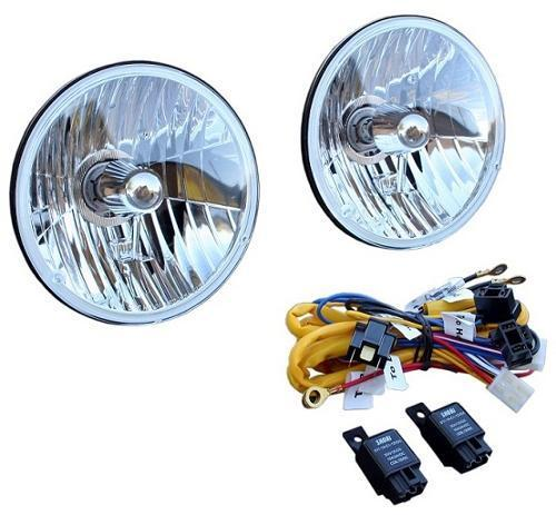 H4 Halogen Headlight Conversion w/Heavy Duty Wiring Harness Kit