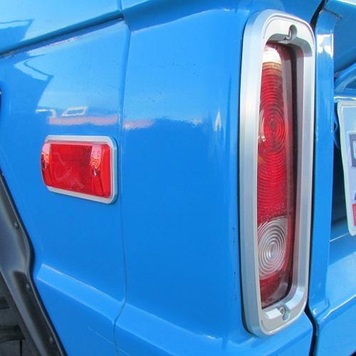 Billet Aluminum Tail Light Bezels Pair Toms Bronco Parts