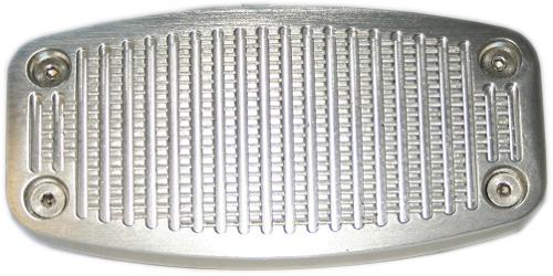 Billet Aluminum Brake Pedal Pad - Large, Disc Brake, 76-77 Ford Bronco (each)