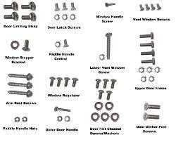 Door Bolt Kit, New, Stainless Steel, Does one door