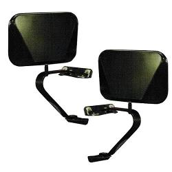 Black Fold-Away Side Mirrors, 66-77 / 78-96 Ford Bronco, Pair