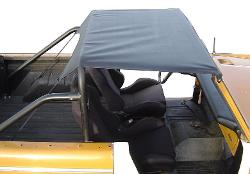 """BREEZER"" Rollbar Top Kit for Standard Bar - Black w/Hardware"