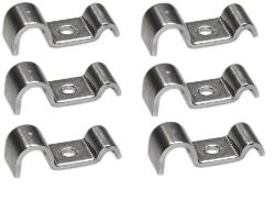 Brake/Fuel Line Frame Mount Clip Stainless Steel, Set of 6