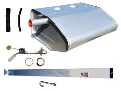 Fuel Tank Kit - Stock Steel Gas Tank w/Sending Unit, Hoses & Strap, 66-76 Ford Bronco