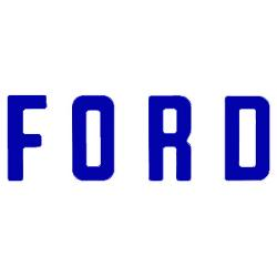 """F O R D"" Tailgate Letters, Blue, Vinyl"