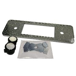DIN Repair Kit for Retrosound Stereo (#0996B) - Chrome Crush Finish