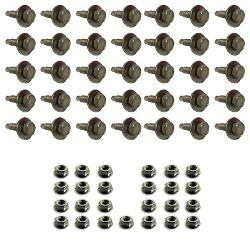 Stainless Steel Hard Top Bolt & Nut Hardware Kit