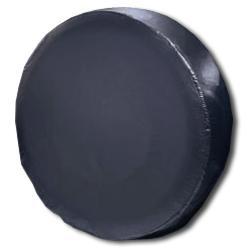 Vinyl Spare Tire Cover - Plain Black (Select Size)