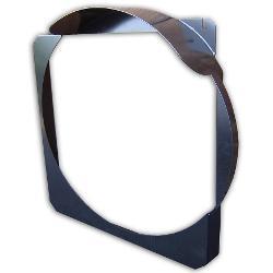 "Steel Radiator Fan Shroud, V-8, Black, 1"" to 2"" Body Lift"