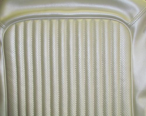 Seat Upholstery - Pearl White W/ TEXTURE, Full Set, 68-77 Ford Bronco