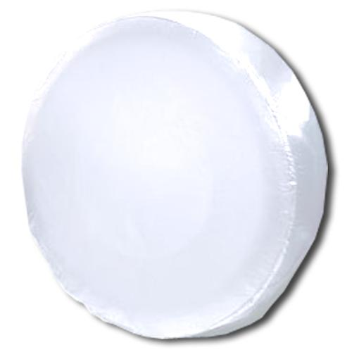 Vinyl Spare Tire Cover - Plain White (Select Size)
