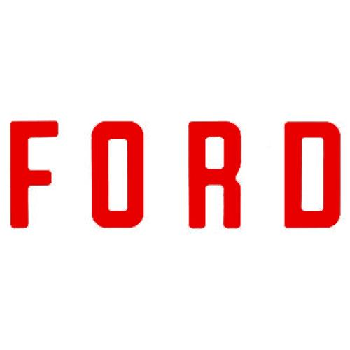 """F O R D"" Tailgate Letters, Red, Vinyl"