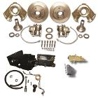 POWER Front Disc Brake Kit - Dana 30 & 44, Prop Valve & Bracket, Booster Kit