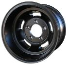 US Mags Slotted Indy Wheel, BLACK Aluminum - 15x10, 5x5.5 Bolt Pattern